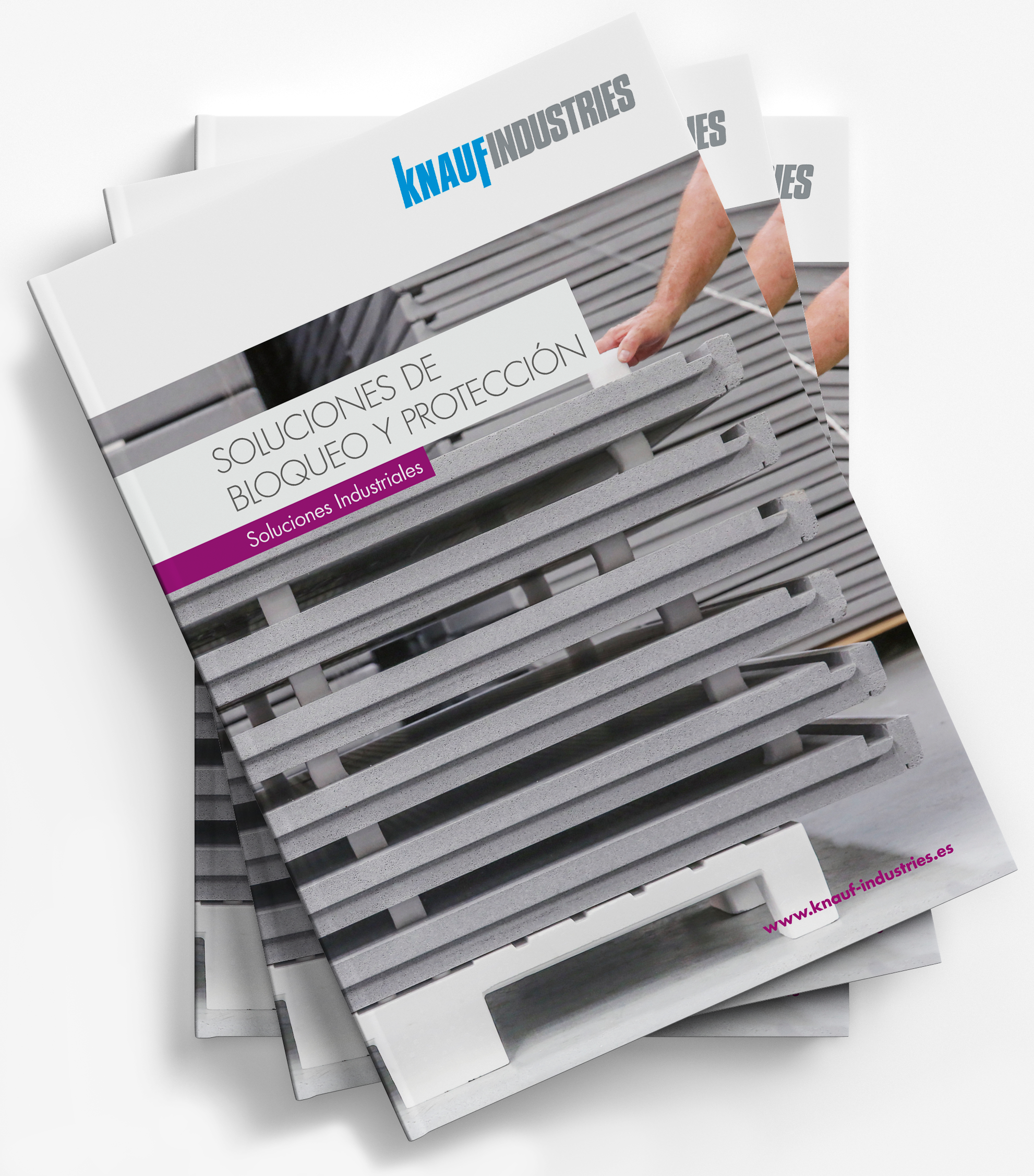 mockup catálogo soluciones industriales knauf industries